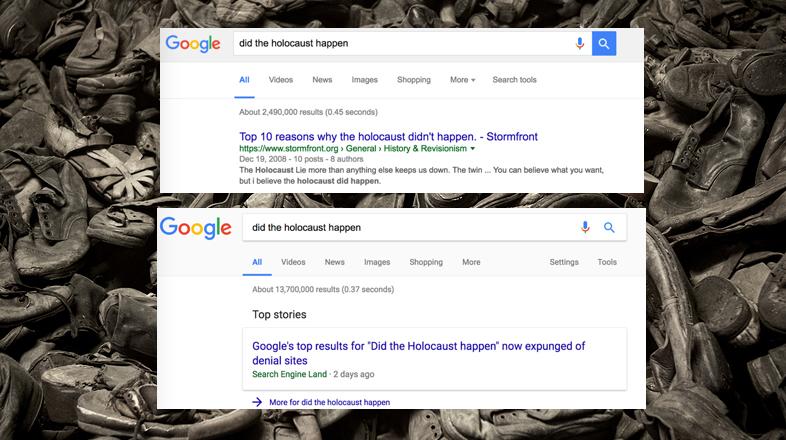 Googleが検索アルゴリズムを変更、ヘイトサイトを一部排除